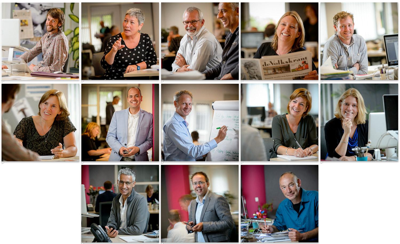 Verhalende portretten van medewerkers communicatiebureau