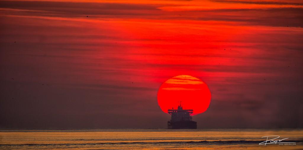 Haven Rotterdam onderdaande zon-13