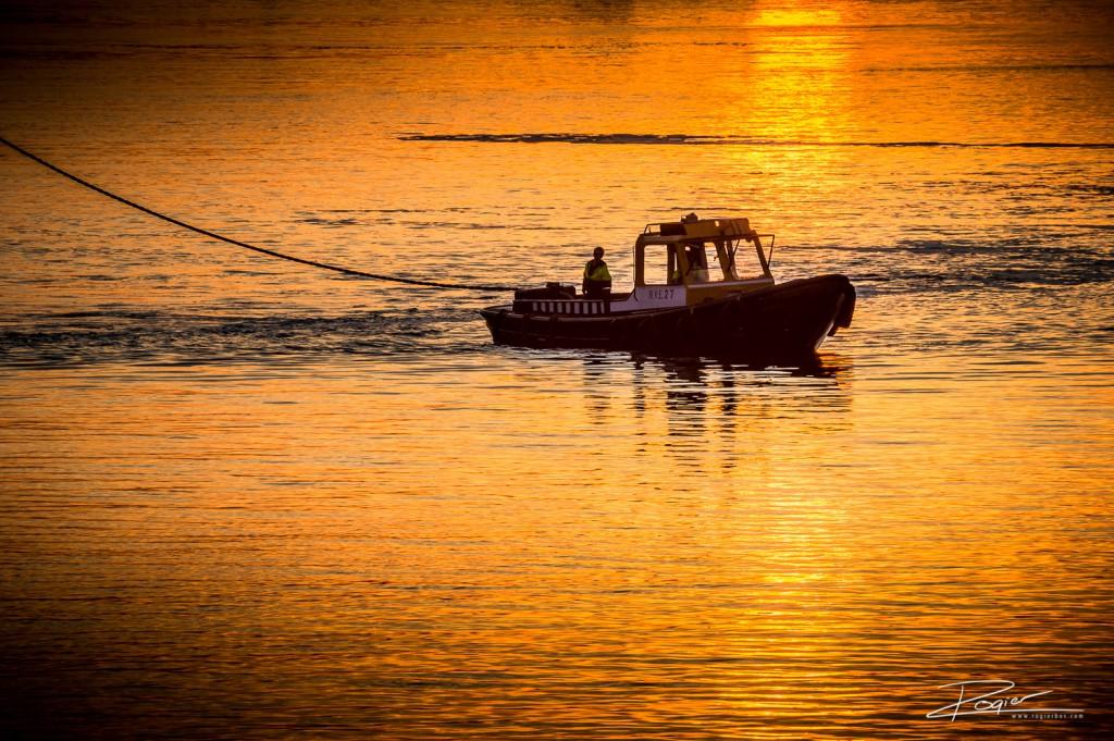 Haven Rotterdam onderdaande zon-8