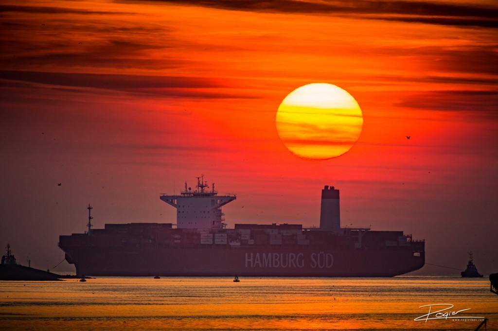 Haven Rotterdam onderdaande zon-9